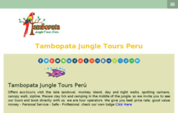All information you should know before making a plan about the visit to Tambopata